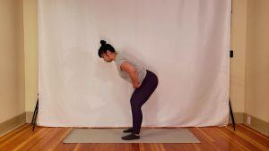 Liz performs a bodyweight hinge